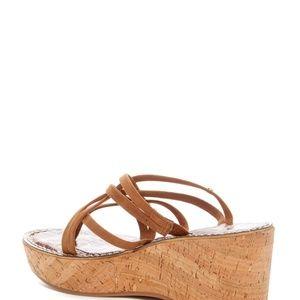 676cedf2628 Sam Edelman Shoes - NIB Sam Edelman Randy Saddle Suede Platform Sandal